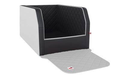 padsforall Autohundebett Travelmat® duo Plus (Standardmaß), black/snow