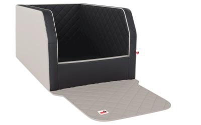 padsforall Autohundebett Travelmat® duo Plus (Standardmaß), mystic light/creme