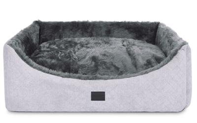 padsforall Hundebett Alma Fake Fur, silber-anthrazit