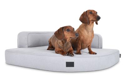 padsforall Hundebett Esquina Select+ Luxuryline, silber