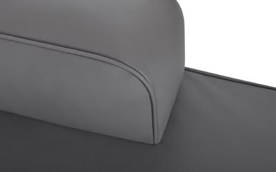 Liegefläche besteht aus einem standardmäßig mit festem Schaumstoff gefüllten Innenkern