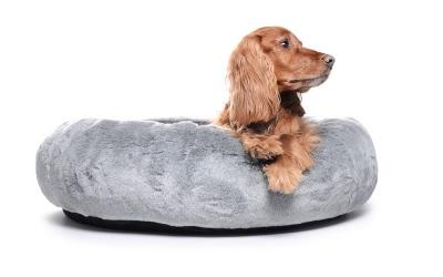 padsforall Hundebett K-Nax Fake Fur, grau
