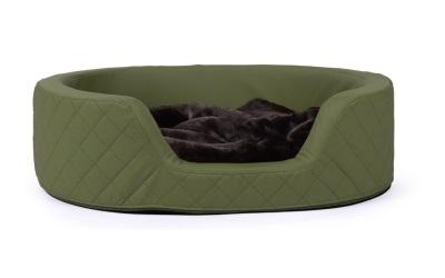 padsforall Hundebett London Kunstleder, dunkelgrün