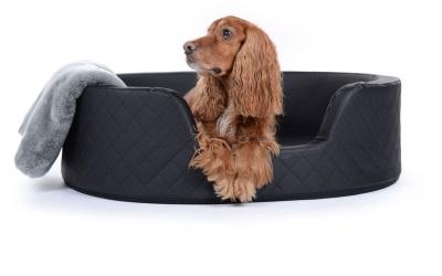 padsforall Hundebett London Kunstleder, schwarz