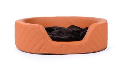 padsforall Hundebett London Kunstleder, terracotta
