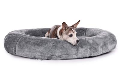 padsforall Hundebett Nubo&Vello Fake Fur, grau
