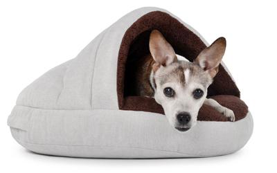 padsforall Hundehöhle Shell Comfort, cremebraun