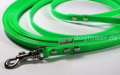 Grüne Biothaneleine, mehrfach verstellbar