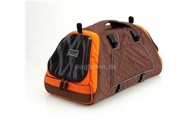 Petego Hundetasche Jet Set, orange-braun-bambus