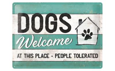 PfotenSchild Blechschild Dogs Welcome