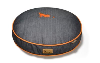 P.L.A.Y. Pet Lifestyle and You Round Bed Denim Orange Medieval Blue/Mandarin