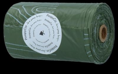 PoopyGo biologisch abbaubare Kotbeutel Einzelrolle Lavendelduft