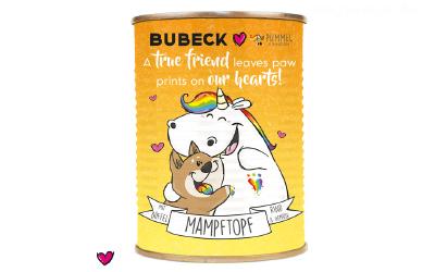 Pummeleinhorn BUBECK Dose MAMPFTOPF Büffel & Rind, in orange