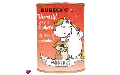 Pummeleinhorn BUBECK Dose MAMPFTOPF Büffel & Rind, in rot