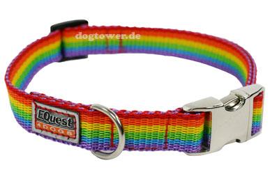 Pummeleinhorn Hundehalsband Fashion Regenbogen