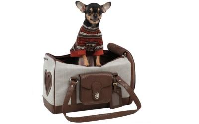 Puppia Grand Carrier Tragetasche für kleine Hunde, beige
