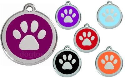 Red Dingo Hundemarke Pfote
