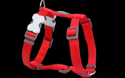 Red Dingo Nylon Hundegeschirr, Uni rot