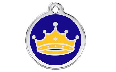 Red Dingo Polierte rostfreie Stahl- Hundemarke King dunkelblau, inklusive Gravur