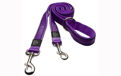 Rogz Beltz Führleine Chrome Purple