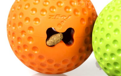 Gumz Hundeball, orange