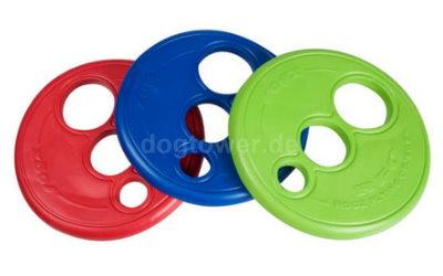 Rogz Frisbee in blau, grün und rot