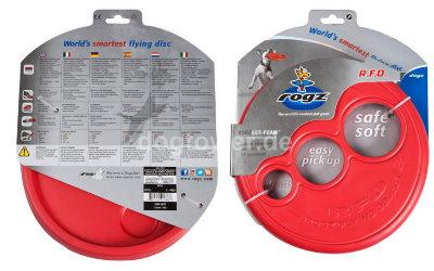 Rogz Frisbeescheibe in rot inkl. Verpackung