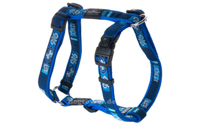 ROGZ Hundegeschirr Fancy Dress Cool Graphics, dunkelblau