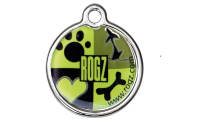 Rogz Instant ID Tagz Hundemarke, Lime Juice