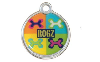 Rogz Instant ID Tagz Hundemarke, Pop Art