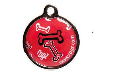 Rogz Instant ID Tagz Hundemarke, Red Bone