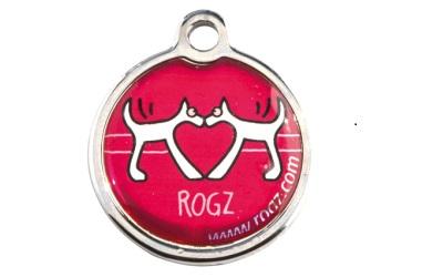 Rogz Instant ID Tagz Hundemarke, Red Heart