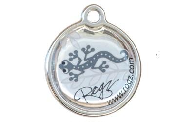 Rogz Instant ID Tagz Hundemarke, Silver Gecko