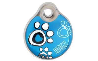 Rogz Instant ID Tagz Hundemarke Turquoise Paw