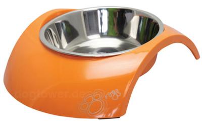 Rogz Melamin Hundenapf Luna, Orange Paws