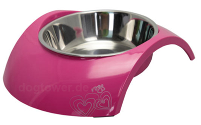 Rogz Melamin Hundenapf Luna, Pink Heart
