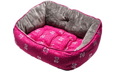 Rogz Trendy Podz Hundebett, Pink Bones