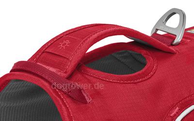 Stabiler Griff im Rückenbereich zur Unterstützung und Halten