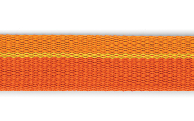 Strapazierfähiges Nylongurtband in Orange Farbtönen