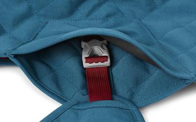 Kunststoff-Klickverschluss seitlich überdeckt/geschützt