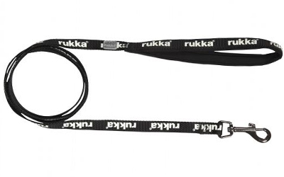 rukka Glow Leash Fluorescent Hundeleine, black