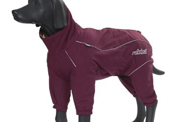 Weinroter Wetterschutz für kleine und große Hunde