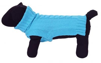 rukka Wooly Knitwear Hundepullover, aqua