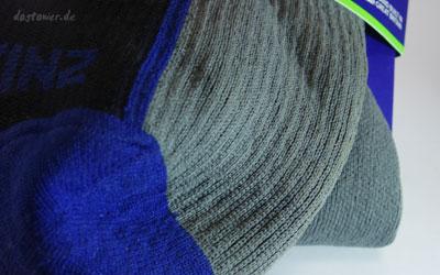 Wasser- und winddichte Socke