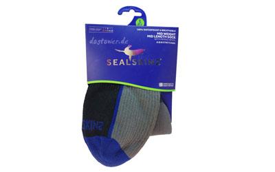 Sealskinz Socke Mid Weight Mid Length, grau/schwarz