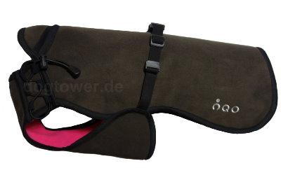 Softshell Hundemantel IQO VXf, braun/pink