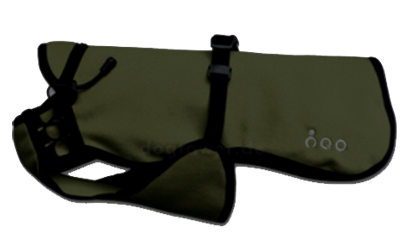 Softshell Hundemantel IQO VXf dunkelgrün/schwarz