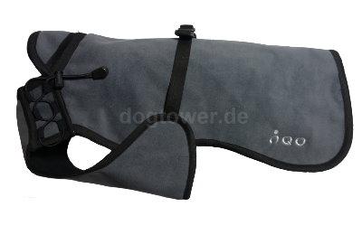 Softshell Hundemantel IQO VXf, granit/schwarz