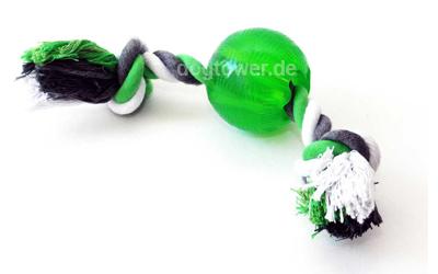 Bite me Ball mit Seil in grün