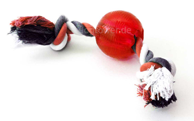 Bite me Ball mit Seil in rot